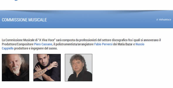AVivaVoce 2013 - Commissione Musicale